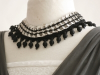 Collier plastron Black Lady