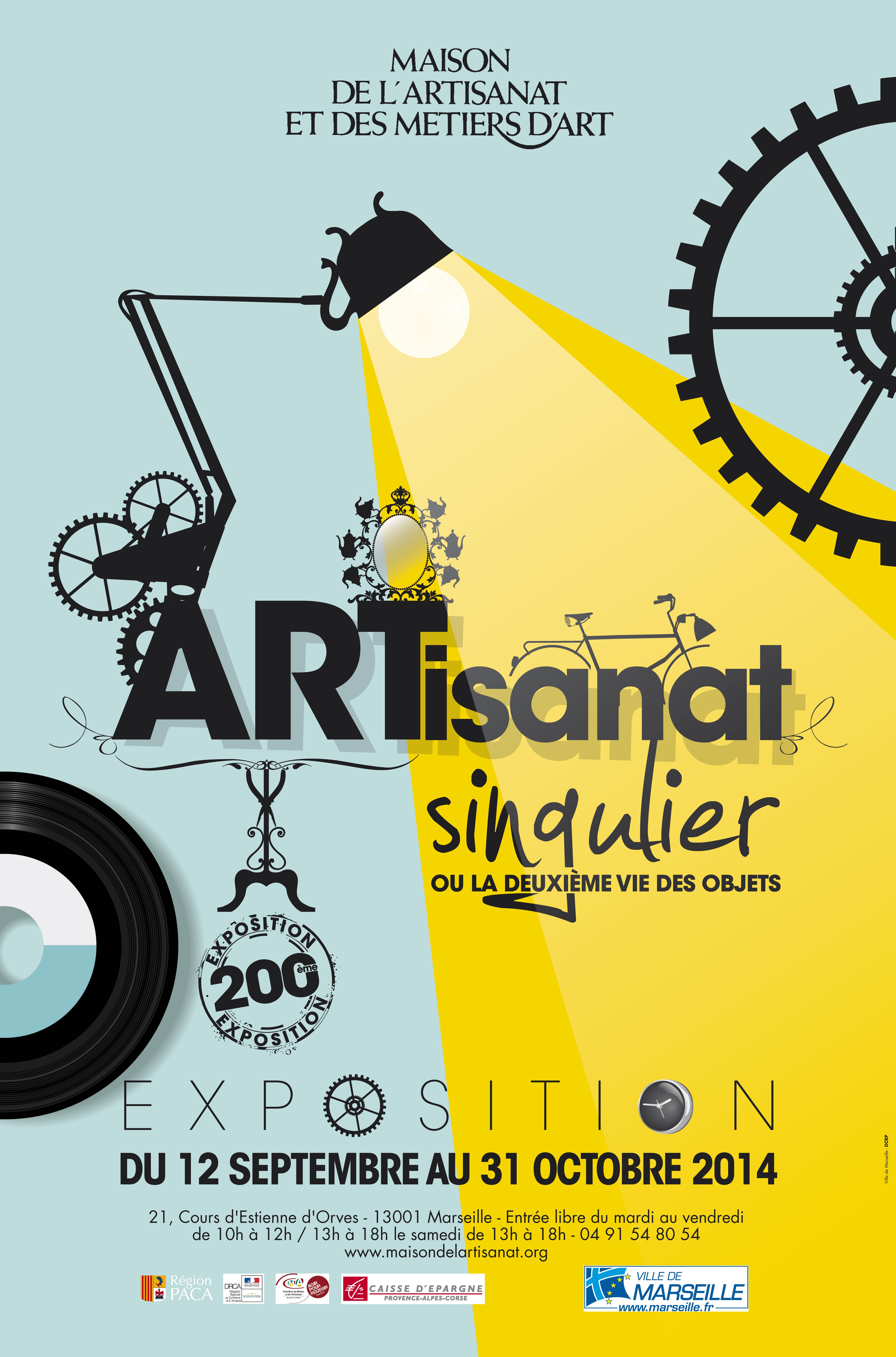 Affiche exposition Artisanat singulier à Marseille