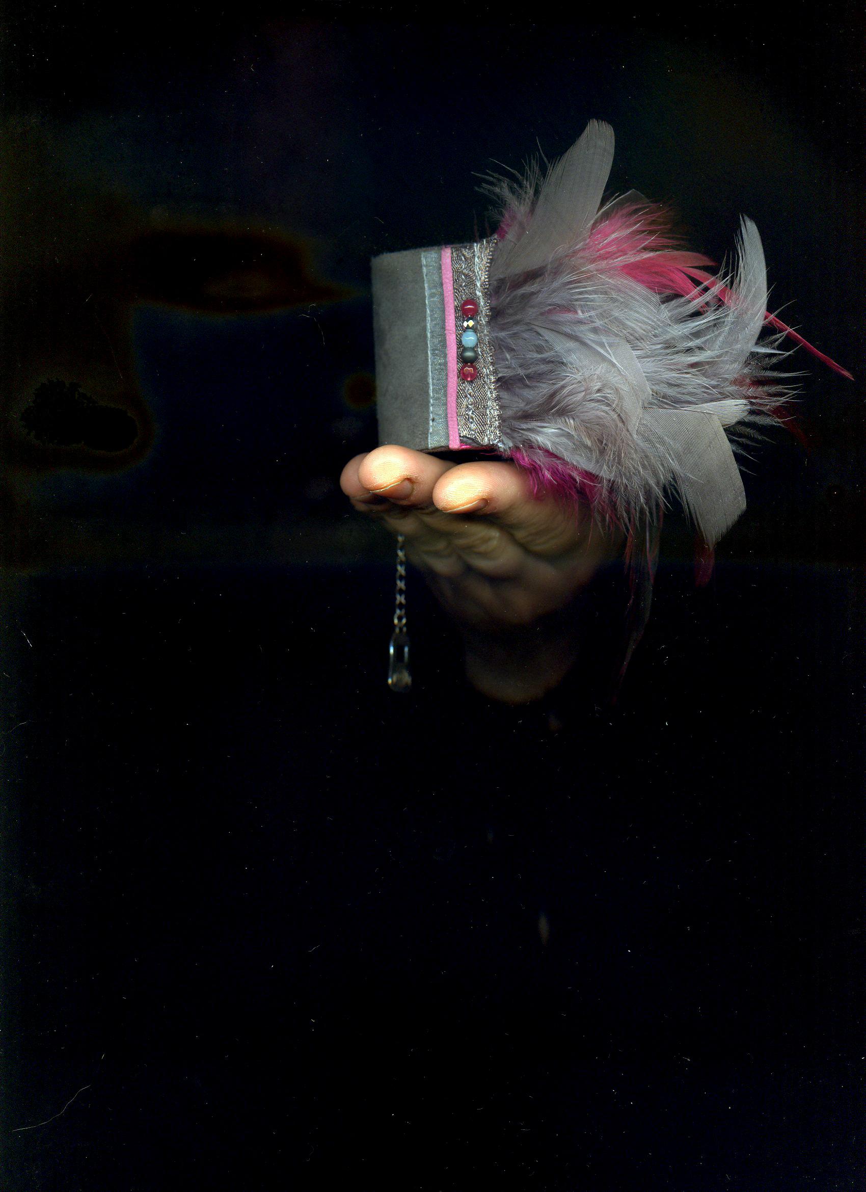 Manchette à plumes Kaie